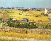 Vincent Van Gogh : Harvest at La Crau, with Montmaiour in the Background